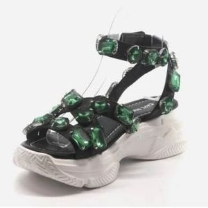 Emerald Green Chunky Sandals